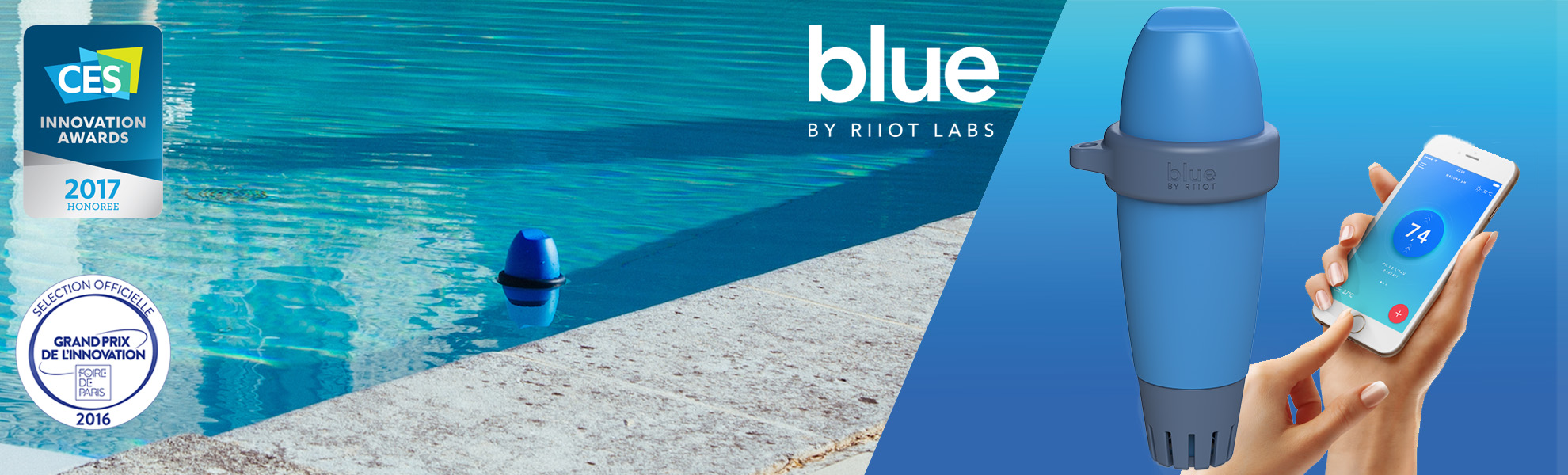 blue by riiot analyse facile de l 39 eau de votre piscine. Black Bedroom Furniture Sets. Home Design Ideas