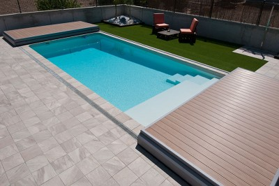 Terrasse mobile piscine Deck Well ouvert